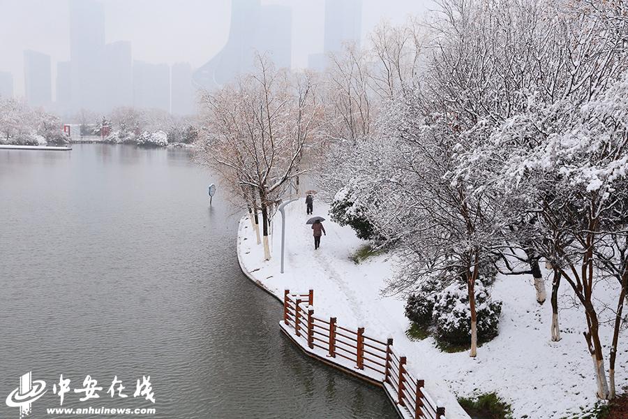 合肥迎2018第一场雪 全城