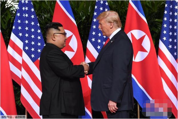 朝美首脑首次会晤 金正恩特朗普