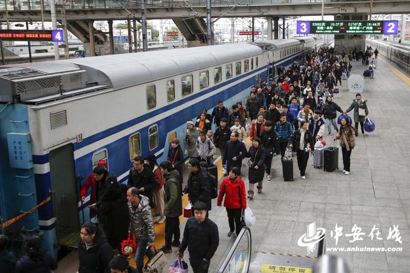 【组图】安徽开行2020年春运首趟临客