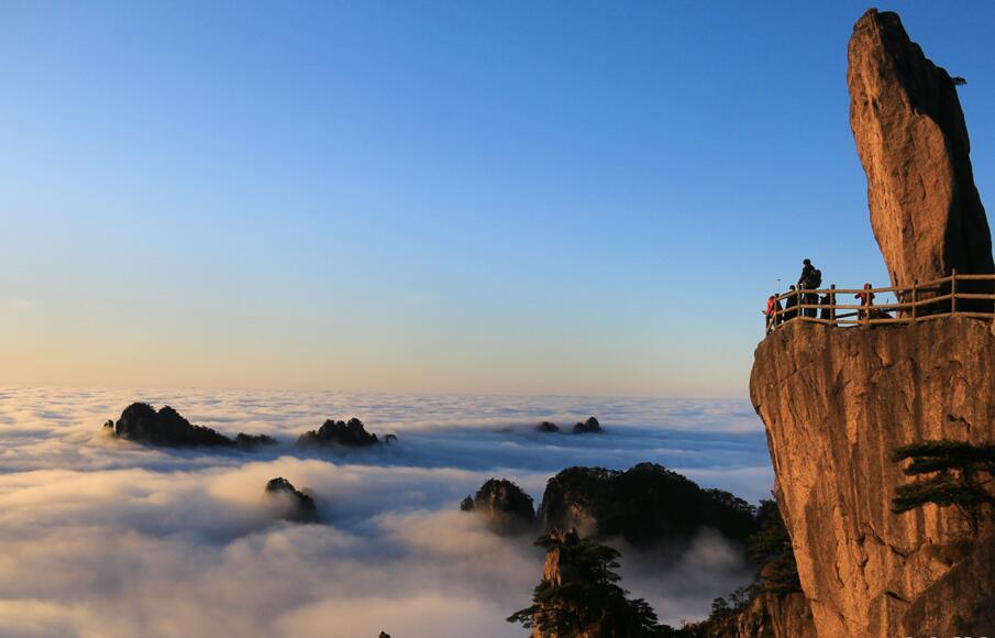 冬日黄山观云海